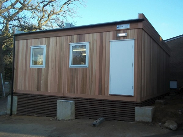 Portable Building Installed At Kent School
